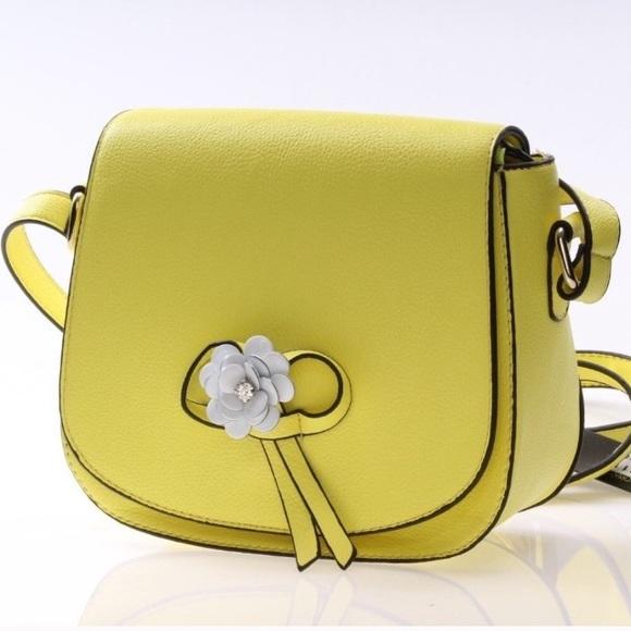 65e556ddc143 Structured Crossbody Handbag Yellow Purse NEW! Boutique